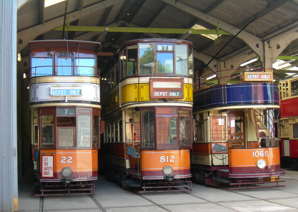 Glasgow Trams in the Depot