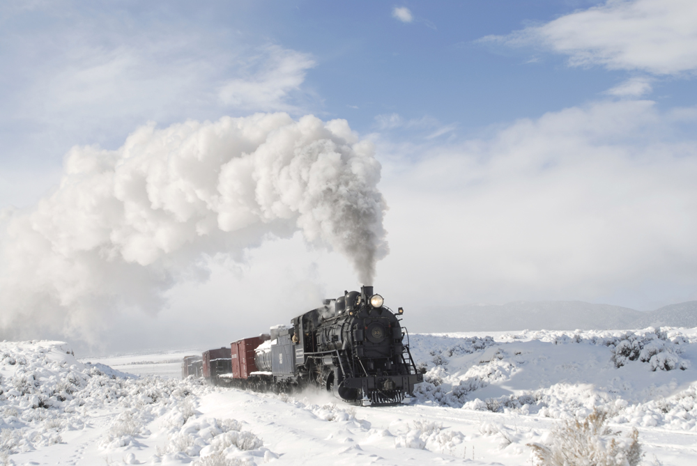 Nevada Northern Railway winter image