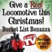 Yes, YOU can GIVE a REAL Locomotive this Christmas!