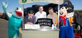 Britain's #1 Fish & Chip Shop, and NYMR launch the 'Quayside Express.'
